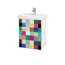 Dreja - Kúpeľňová skriňa GO SZZ2 50 - N01 Bílá lesk / Úchytka T04 / IND Individual (23815E)