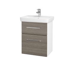 Dreja - Kúpeľňová skriňa GO SZZ2 50 - N01 Bílá lesk / Úchytka T04 / D03 Cafe (27912E)