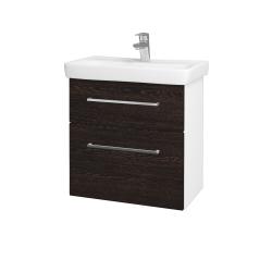 Dreja - Kúpeľňová skriňa GO SZZ2 60 - N01 Bílá lesk / Úchytka T04 / D08 Wenge (28056E)