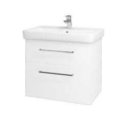 Dreja - Kúpeľňová skriňa Q MAX SZZ2 70 - N01 Bílá lesk / Úchytka T04 / L01 Bílá vysoký lesk (60155E)