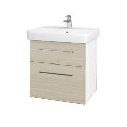 Dreja - Kúpeľňová skriňa Q MAX SZZ2 60 - N01 Bílá lesk / Úchytka T04 / D04 Dub (60223E)