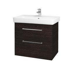Dreja - Kúpeľňová skriňa Q MAX SZZ2 70 - D08 Wenge / Úchytka T04 / D08 Wenge (60315E)