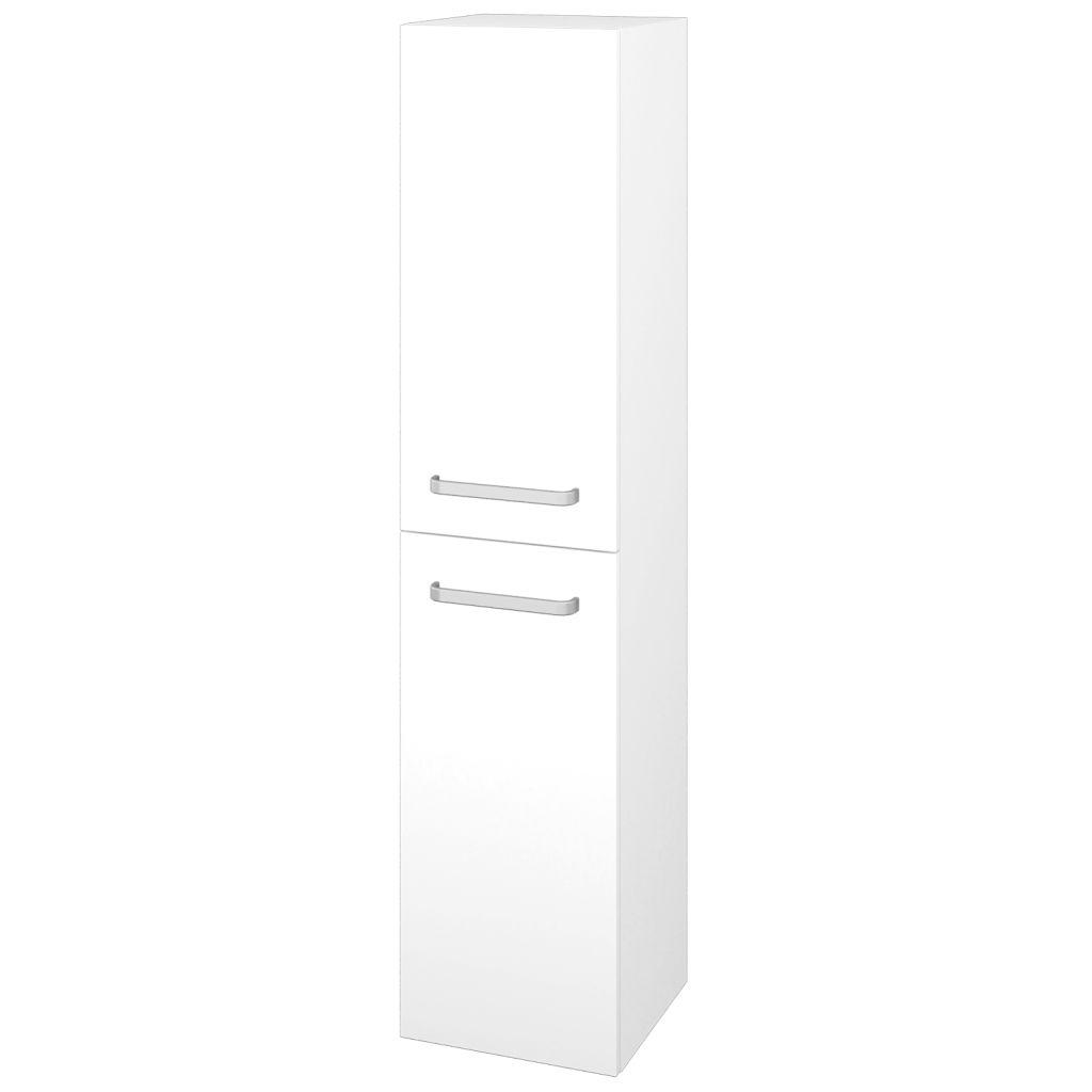 Dreja - Skriňa vysoká DOS SVD2 35 - N01 Bílá lesk / Úchytka T01 / L01 Bílá vysoký lesk / Pravé 22351AP