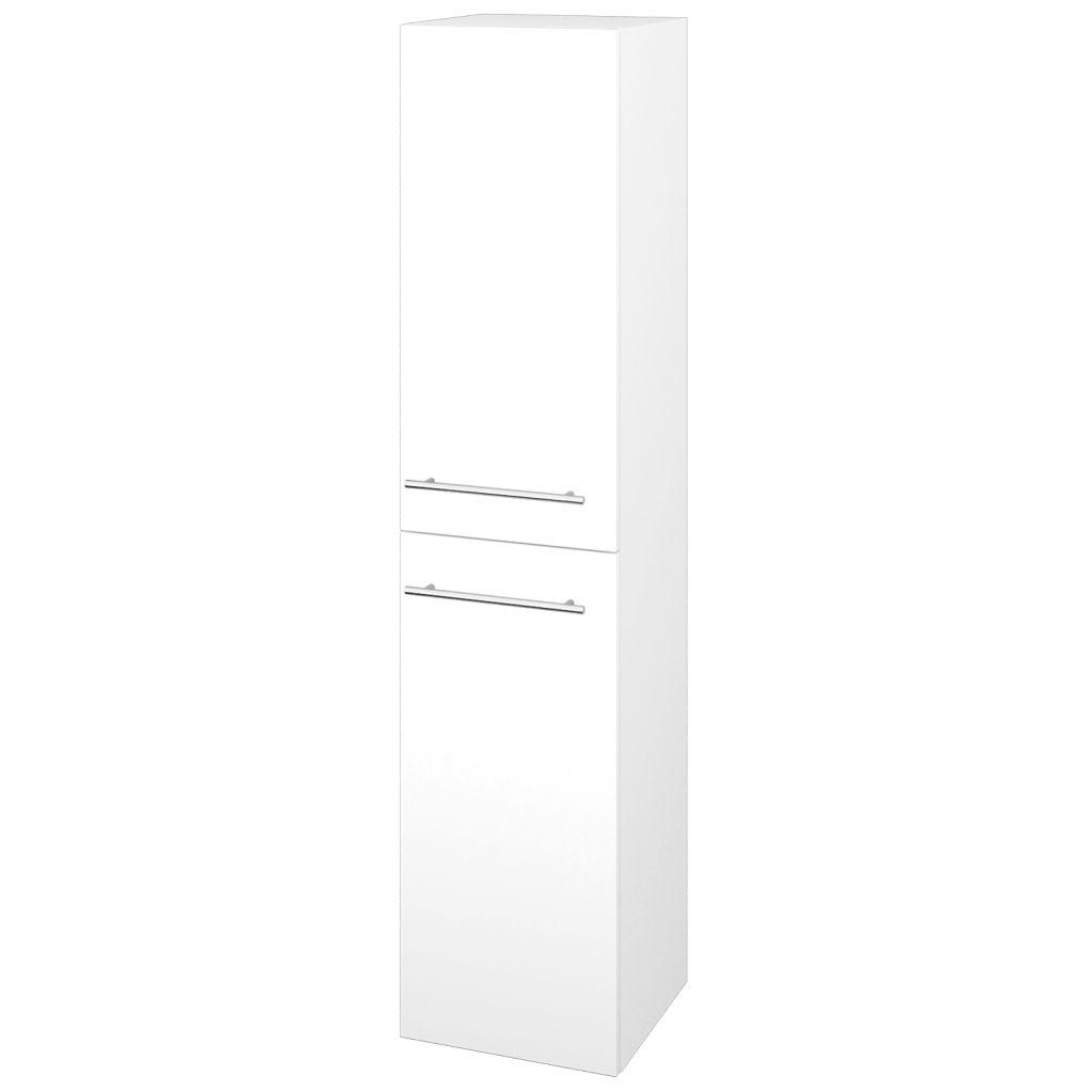 Dreja - Skriňa vysoká DOS SVD2 35 - N01 Bílá lesk / Úchytka T02 / L01 Bílá vysoký lesk / Pravé 22351BP