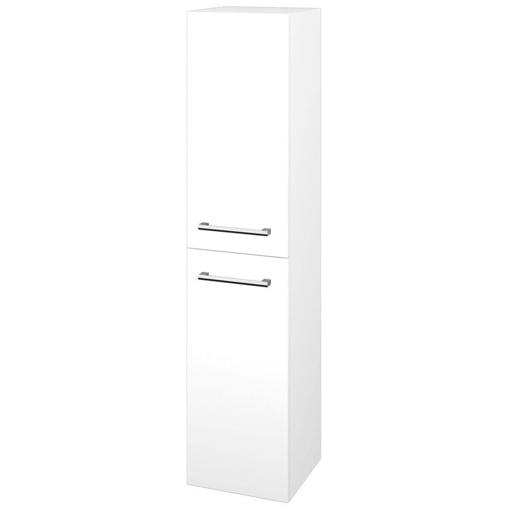 Dreja - Skriňa vysoká DOS SVD2 35 - N01 Bílá lesk / Úchytka T03 / L01 Bílá vysoký lesk / Pravé 22351CP
