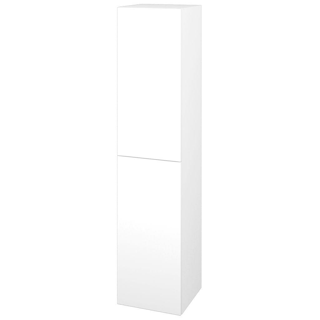 Dreja - Skriňa vysoká DOS SVD2 35 - N01 Bílá lesk / Bez úchytky T31 / L01 Bílá vysoký lesk / Pravé 22351DP
