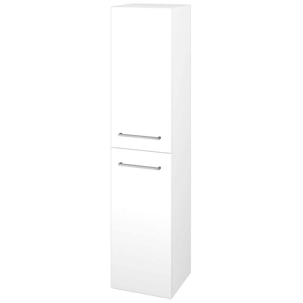 Dreja - Skriňa vysoká DOS SVD2 35 - N01 Bílá lesk / Úchytka T04 / L01 Bílá vysoký lesk / Levé 22351E