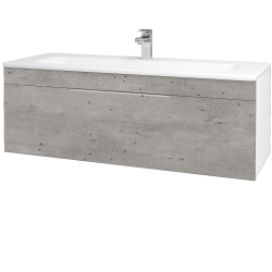 Dreja - Kúpeľňová skriňa ASTON SZZ 120 - N01 Bílá lesk / Úchytka T05 / D01 Beton (131098F)
