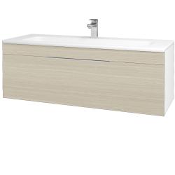 Dreja - Kúpeľňová skriňa ASTON SZZ 120 - N01 Bílá lesk / Úchytka T05 / D04 Dub (131128F)