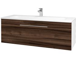 Dreja - Kúpeľňová skriňa ASTON SZZ 120 - N01 Bílá lesk / Úchytka T05 / D06 Ořech (131142F)