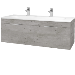 Dreja - Kúpeľňová skriňa ASTON SZZ2 120 - D01 Beton / Úchytka T05 / D01 Beton (131517FU)