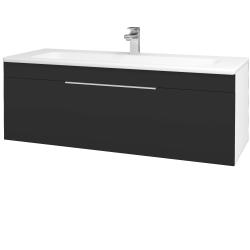 Dreja - Kúpeľňová skriňa ASTON SZZ 120 - N01 Bílá lesk / Úchytka T05 / N03 Graphite (200145F)