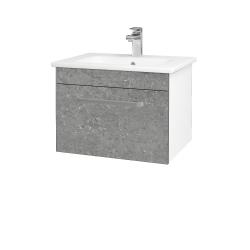 Dreja - Kúpeľňová skriňa ASTON SZZ 60 - N01 Bílá lesk / Úchytka T01 / D20 Galaxy (276645A)