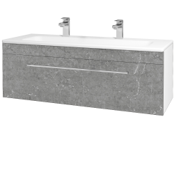 Dreja - Kúpeľňová skriňa ASTON SZZ 120 - N01 Bílá lesk / Úchytka T04 / D20 Galaxy (276805EU)