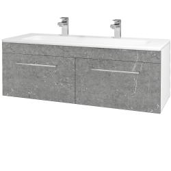 Dreja - Kúpeľňová skriňa ASTON SZZ2 120 - N01 Bílá lesk / Úchytka T04 / D20 Galaxy (276843EU)