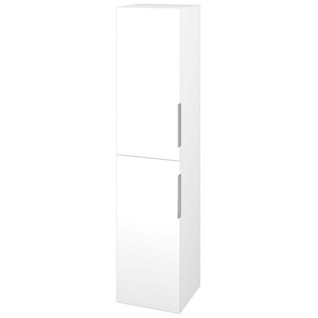 Dreja - Skriňa vysoká DOS SVD2 35 - N01 Bílá lesk / Úchytka T05 / L01 Bílá vysoký lesk / Levé 22351F