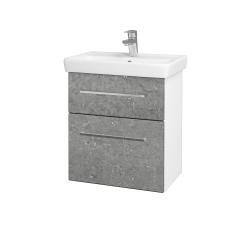 Dreja - Kúpeľňová skriňa GO SZZ2 55 - N01 Bílá lesk / Úchytka T04 / D20 Galaxy (278861E)