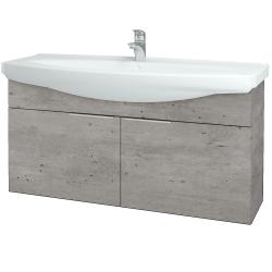 Dreja - Kúpeľňová skriňa TAKE IT SZD2 120 - D01 Beton / Úchytka T05 / D01 Beton (133511F)