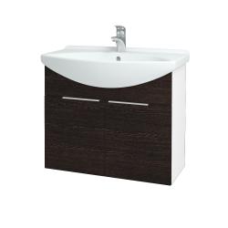 Dreja - Kúpeľňová skriňa TAKE IT SZD2 75 - N01 Bílá lesk / Úchytka T05 / D08 Wenge (152079F)