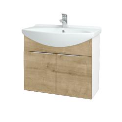Dreja - Kúpeľňová skriňa TAKE IT SZD2 75 - N01 Bílá lesk / Úchytka T05 / D09 Arlington (152086F)