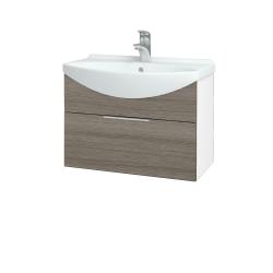 Dreja - Kúpeľňová skriňa TAKE IT SZZ 65 - N01 Bílá lesk / Úchytka T05 / D03 Cafe (152390F)