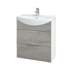 Dreja - Kúpeľňová skriňa TAKE IT SZZ2 65 - N01 Bílá lesk / Úchytka T05 / D01 Beton (152826F)