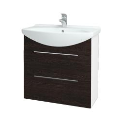 Dreja - Kúpeľňová skriňa TAKE IT SZZ2 75 - N01 Bílá lesk / Úchytka T05 / D08 Wenge (152970F)