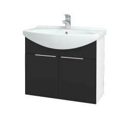 Dreja - Kúpeľňová skriňa TAKE IT SZD2 75 - N01 Bílá lesk / Úchytka T05 / N03 Graphite (206086F)