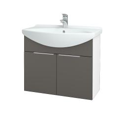 Dreja - Kúpeľňová skriňa TAKE IT SZD2 75 - N01 Bílá lesk / Úchytka T05 / N06 Lava (206093F)