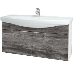Dreja - Kúpeľňová skriňa TAKE IT SZD2 120 - N01 Bílá lesk / Úchytka T05 / D10 Borovice Jackson (206529F)