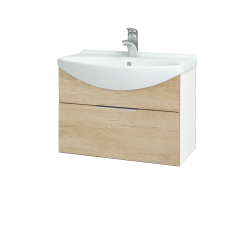 Dreja - Kúpeľňová skriňa TAKE IT SZZ 65 - N01 Bílá lesk / Úchytka T05 / D15 Nebraska (206697F)