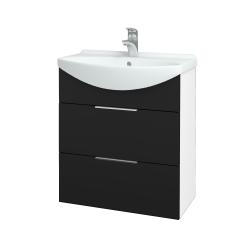 Dreja - Kúpeľňová skriňa TAKE IT SZZ2 65 - N01 Bílá lesk / Úchytka T05 / N08 Cosmo (207557F)