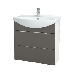 Dreja - Kúpeľňová skriňa TAKE IT SZZ2 75 - N01 Bílá lesk / Úchytka T05 / N06 Lava (207694F)