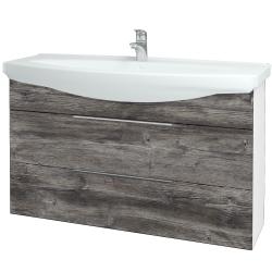 Dreja - Kúpeľňová skriňa TAKE IT SZZ2 120 - N01 Bílá lesk / Úchytka T05 / D10 Borovice Jackson (208127F)