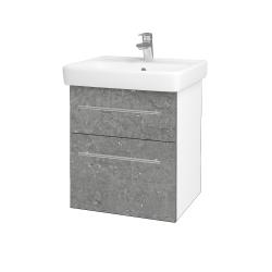 Dreja - Kúpeľňová skriňa Q MAX SZZ2 55 - N01 Bílá lesk / Úchytka T02 / D20 Galaxy (275556B)
