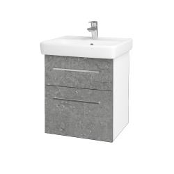 Dreja - Kúpeľňová skriňa Q MAX SZZ2 55 - N01 Bílá lesk / Úchytka T04 / D20 Galaxy (275556E)