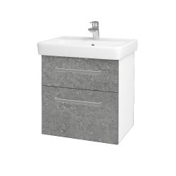 Dreja - Kúpeľňová skriňa Q MAX SZZ2 60 - N01 Bílá lesk / Úchytka T01 / D20 Galaxy (275594A)