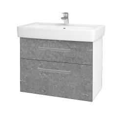 Dreja - Kúpeľňová skriňa Q MAX SZZ2 80 - N01 Bílá lesk / Úchytka T01 / D20 Galaxy (275679A)