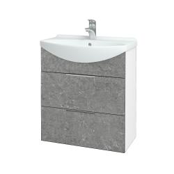 Dreja - Kúpeľňová skriňa TAKE IT SZZ2 65 - N01 Bílá lesk / Úchytka T05 / D20 Galaxy (279387F)