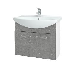 Dreja - Kúpeľňová skriňa TAKE IT SZD2 75 - N01 Bílá lesk / Úchytka T03 / D20 Galaxy (279400C)