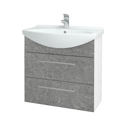 Dreja - Kúpeľňová skriňa TAKE IT SZZ2 75 - N01 Bílá lesk / Úchytka T02 / D20 Galaxy (279448B)