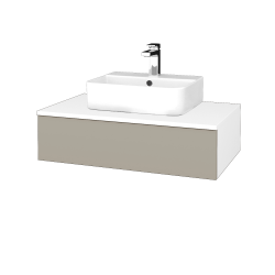 Dreja - Kúpeľňová skrinka MODULE SZZ 80 - N01 Bílá lesk / M05 Béžová mat (297268)