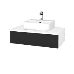 Dreja - Kúpeľňová skrinka MODULE SZZ 80 - N01 Bílá lesk / N03 Graphite (297305)