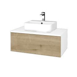 Dreja - Kúpeľňová skrinka MODULE SZZ1 80 - N01 Bílá lesk / D09 Arlington (297671)