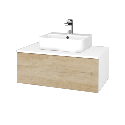 Dreja - Kúpeľňová skrinka MODULE SZZ1 80 - N01 Bílá lesk / D15 Nebraska (297695)