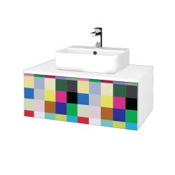 Dreja - Kúpeľňová skrinka MODULE SZZ1 80 - N01 Bílá lesk / IND Individual (297749)
