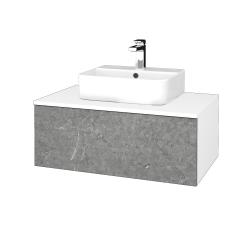 Dreja - Kúpeľňová skrinka MODULE SZZ1 80 - N01 Bílá lesk / D20 Galaxy (297855)