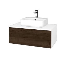 Dreja - Kúpeľňová skrinka MODULE SZZ1 80 - N01 Bílá lesk / D21 Tobacco (297862)