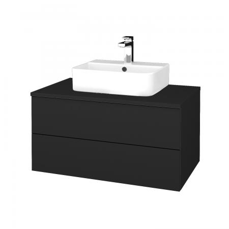 Dreja - Kúpeľňová skrinka MODULE SZZ2 80 - L03 Antracit vysoký lesk / L03 Antracit vysoký lesk (298029)