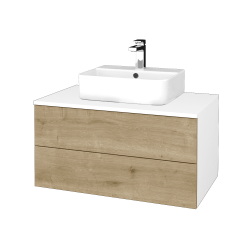 Dreja - Kúpeľňová skrinka MODULE SZZ2 80 - N01 Bílá lesk / D09 Arlington (298142)